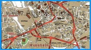 Туристическая карта Уэйкфилда