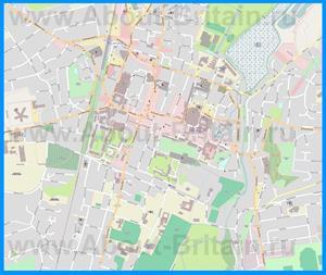 Подробная карта города Уинчестер