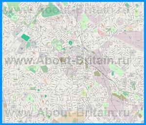 Подробная карта города Вулверхэмптон