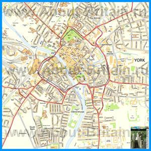 Подробная карта города Йорк