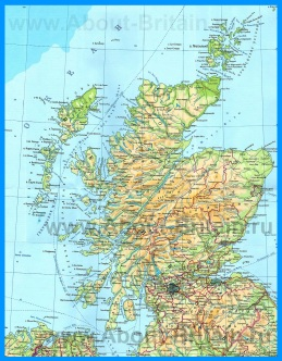 Подробная карта Шотландии на русском языке