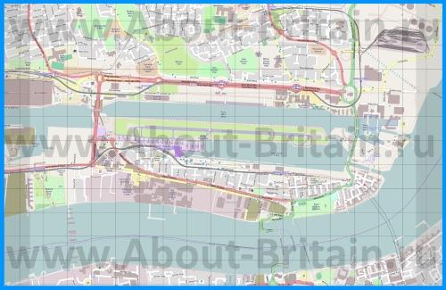 Аэропорт Лондон-Сити на карте Лондона