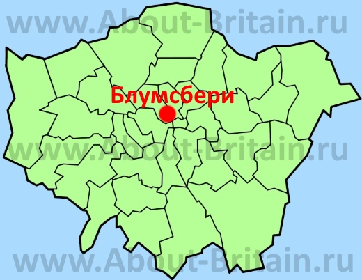 Блумсбери на карте Лондона