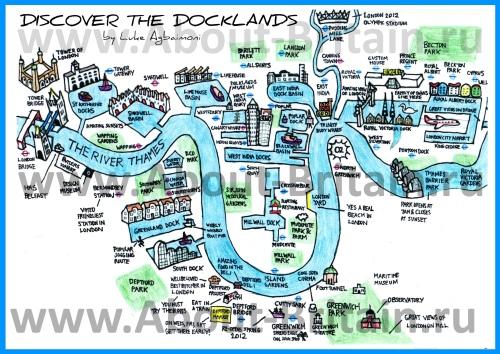 Карта Доклендса